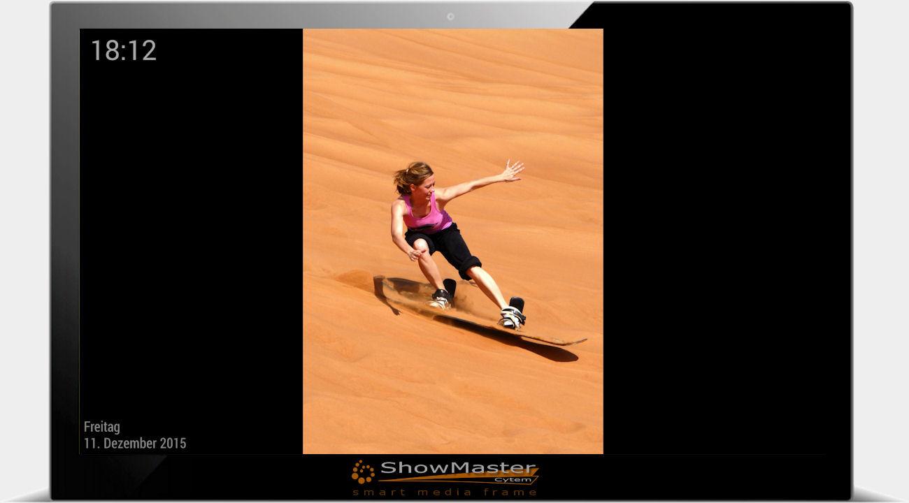 digitaler Bilderrahmen ohne Ambiente Funktion / Bild mit Balken