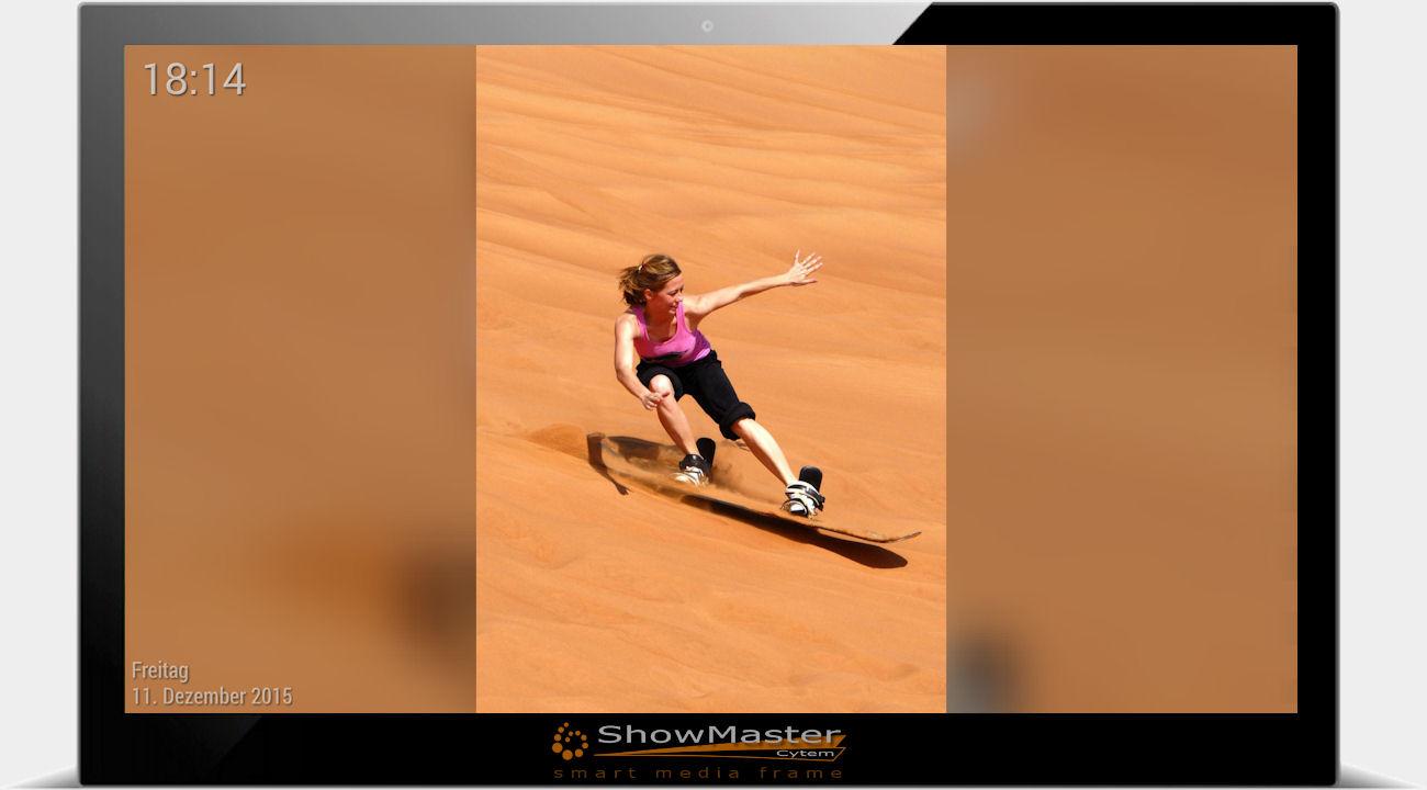 digitaler Bilderrahmen mit Ambiente Funktion / Bild ohne Balken