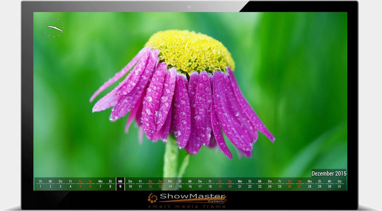 digitaler Bilderrahmen Showmaster Uhr, Kalender