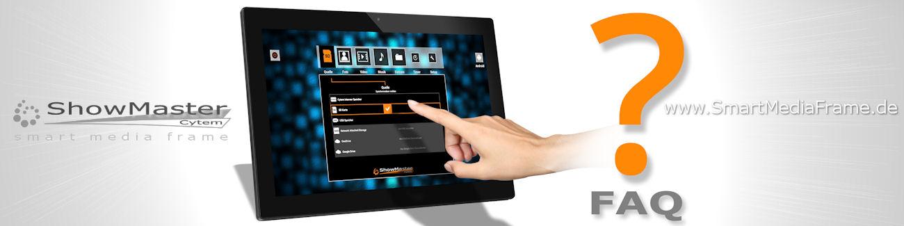 ShowMaster - Digitale Bilderrahmen Fragen und Antworten